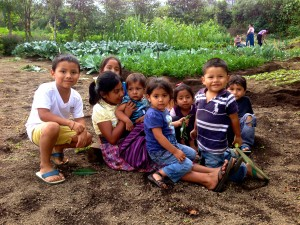 Children of the community garden